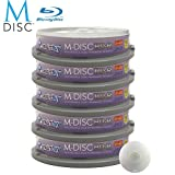50 Pack Smartbuy M-Disc BD-R 25GB 4X HD 1000 Year Permanent Data Archival/Backup Blank Media Recordable Disc