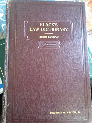 Black's Law Dictionary Third Edition