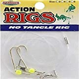 K & E Tackle Perch & Crappie Ice Fishing No Tangle Rig, Chartreuse, Size 6