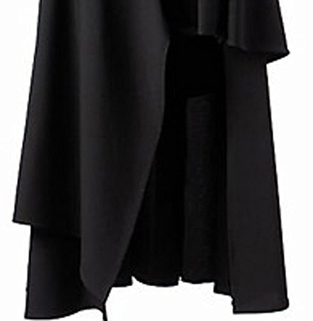 f4609148491 BettiCharm Women s Pure Black Gothic Lolita Band Waist Skirt larger image