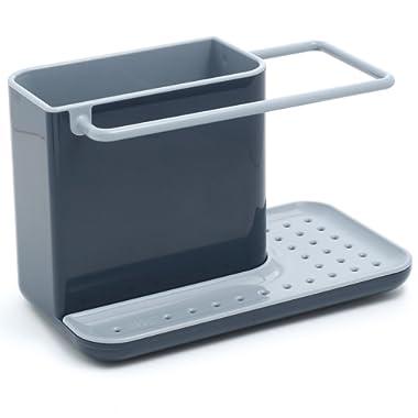 Joseph Joseph 85022 Sink Caddy Kitchen Sink Organizer Sponge Holder Dishwasher-Safe, Regular, Gray