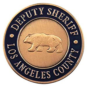 Art Crafter Deputy Sheriff Challenge Coins Display with Classical Copper Color, Bear Pattern Coins, 1.6 Inch, Pack of 1 P018T by Art Crafter