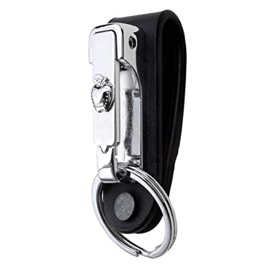 Liangery Keychain for Men, Belt Key Holder Belt Loop Key Chain Clips Safety Leather Key Belt Hook for Keys in Cute Apple Style: Automotive