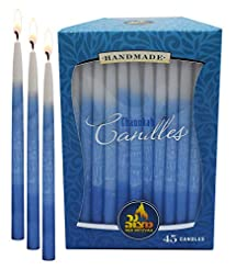 Decorated Dripless Chanukah Candles - St...