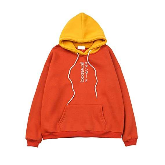b0ab5426c235e XiuG Women Long Sleeve Embroidered Pocket Color Block Pullover Hoodie Top  Sweatshirt Pullover Hooded  Amazon.in  Clothing   Accessories