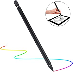 Stylus Pen for Touch Screens, Molichang Active Pen Digital Pencil Fine Point Compatible with iPhone iPad and Other Tablets (Black)