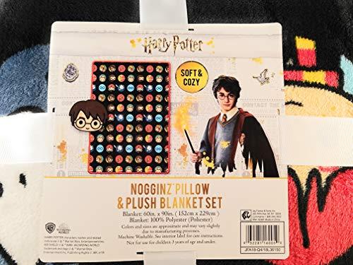 Warner Bros Harry Potter Nogginz Pillow and Plush Blanket Set