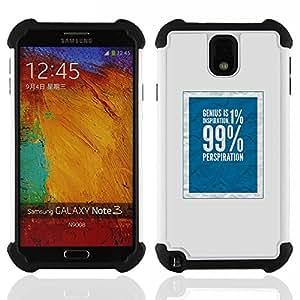 For Samsung Galaxy Note3 N9000 N9008V N9009 - 1 percent 99 rich social justice blue Dual Layer caso de Shell HUELGA Impacto pata de cabra con im????genes gr????ficas Steam - Funny Shop -