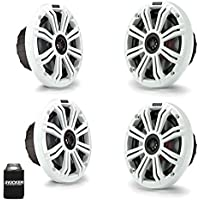 Kicker 6.5 White Marine Speakers (QTY 4) 2 pairs of OEM replacement speakers