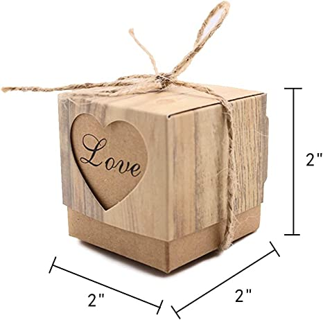 70 Rustic Cottage Wedding Favour Boxes or sweet boxes Vintage Cottage style With Jute finish and label