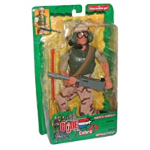 GI JOE vs. Cobra Year 2003 Spy Troops Series 11 Inch Tall Soldier Action Figure - SWITCH GEARS with Goggles, Helmet with Microphone, Pants, Machine Gun, Projectile, Ammo Belts and Boots