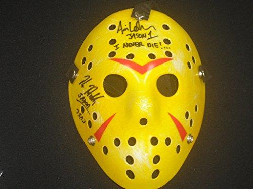 Kane Hodder & Ari Lehman Dual Signed Hockey Mask Friday the 13th Jason Voorhees