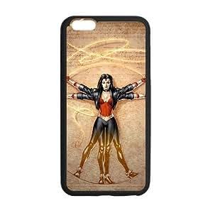 Wonder Woman, iphone6 Cover, iphone 6 plus TPU Gel Case, iphone 6 Cover, Custom TPU iphone 6 Back Case, 5.5 inch, Black/White by ruishername