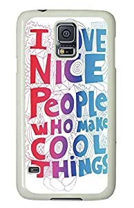 custom made Samsung Galaxy S5 cover I Love Funny PC White Custom Samsung Galaxy S5 Case Cover by icecream design