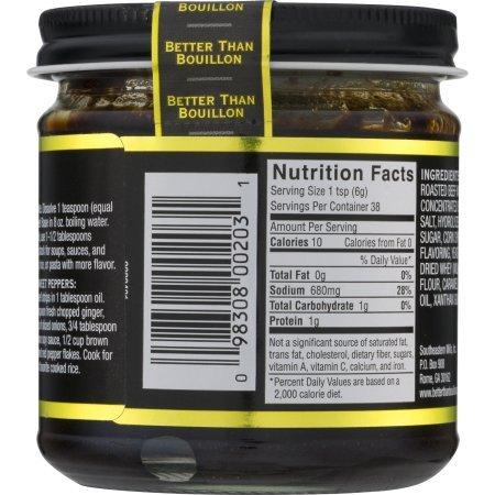 Amazon.com: Better Than Bouillon Premium Roasted Beef Base, 8.0 OZ (2 Jars): Kitchen & Dining
