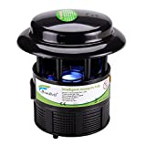 Mosquito Trap, HAUSBELL Nontoxic Flies Killer Non-Chemical Mosquito Inhaler Auto On and Off With Light Sensor, UL Listed (Black)