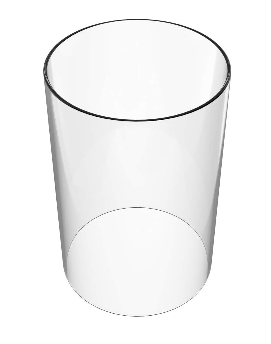 AMAYON Clear Glass Cylinder Lampshade - Lamp Shades Replacement Diameter 4.7'',Height 13''- fit Most of The Popular Candle-Tall Cylinder Glass Vase -