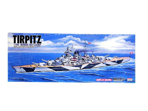 (German Battleship Tirpitz (Plastic model) Micro Ace(Arii) 1/400 New Battleship)