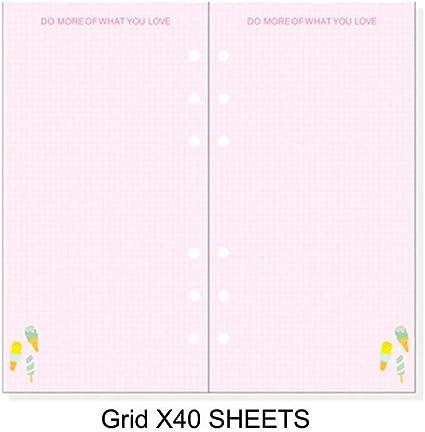 Planificador de diario con diseño de hojas de papel