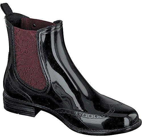 Gosch Shoes Sylt - Mujer Chelsea Botas de Agua 7100-501 EN 4 Colores - Rojo/Negro, 38
