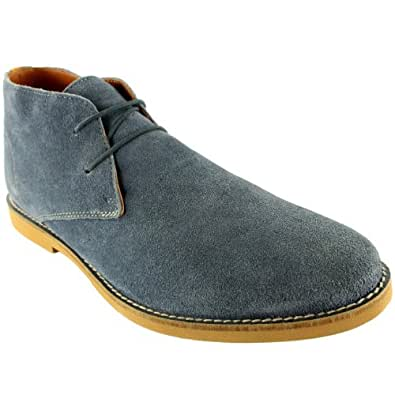 Mens Frank Wright Totton ChUSka Leather ChUSka Lace Up Ankle Boots New - 13 - Blue