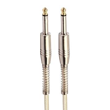 Sguan-wu 6.35mm Cable trenzado macho a macho Cable de audio para altavoz de