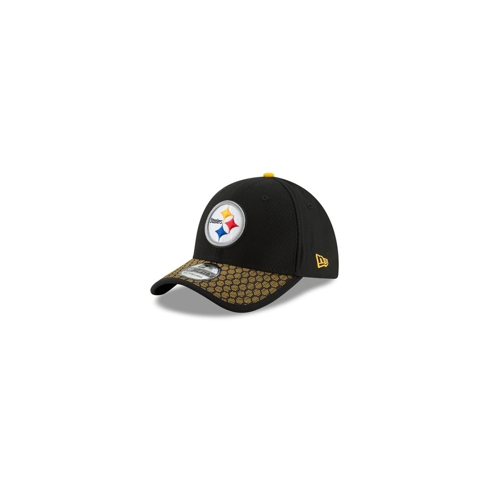 New Era Men s Pittsburgh Steelers 2017 Official NFL Sideline 3930 Cap  Black Yellow Size Medium b23ea90c7