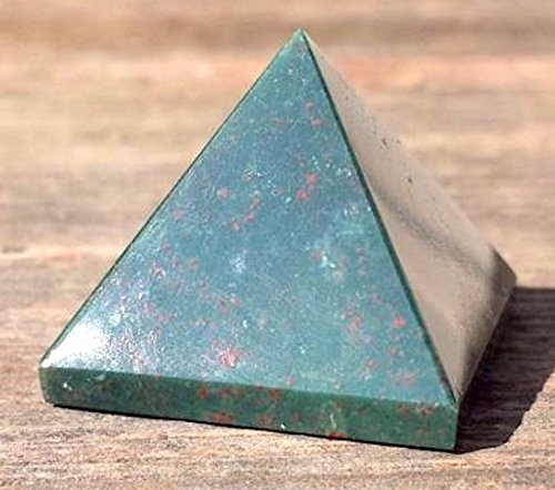 Rare Bloodstone Pyramid Size Approx. 1.75-2 Inch- Reiki Healing GemStone Crystal - Energized crystal Balancer generator Pyramid - A high quality product from US Seller