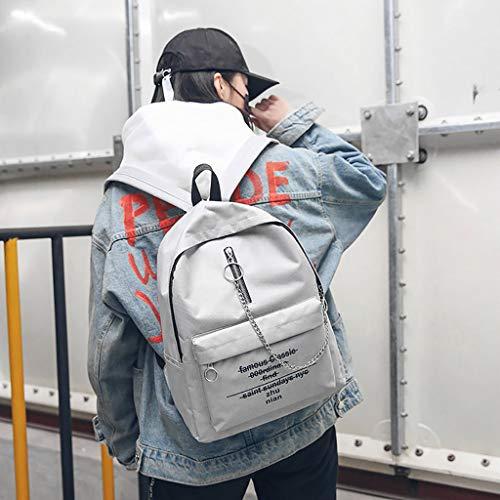 viaggio Trend viaggio Sylar Grigio Zipper donna Solid Zaino Fashion da Borsa da Color Zaino Multifunzionale Personalità Printing da wxOTIa