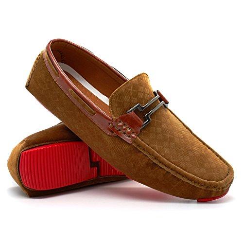 London Footwear - Sandalias con cuña hombre canela