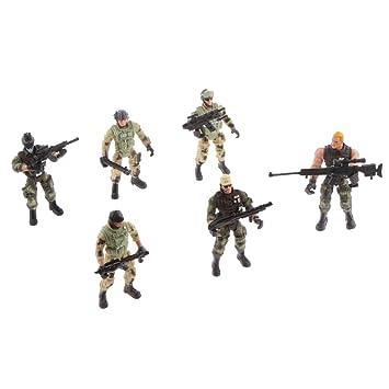 Acción Armas Juguetes 6 Policías Masculinos Modelo Soldados De HYE9IDeW2b