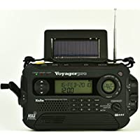 Kaito KA600L 5-Way Powered Emergency AM/FM/SW NOAA Weather Alert Radio with Solar,Dynamo Crank,Flashlight and Reading Lamp, Digital Radio with Larger Battery and Solar Panel (Black)
