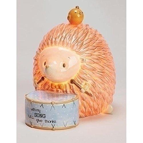 Roman Hedge Hog Night Light Ceramic Baby 5.5 Inches (Zoo Baby Lamp)