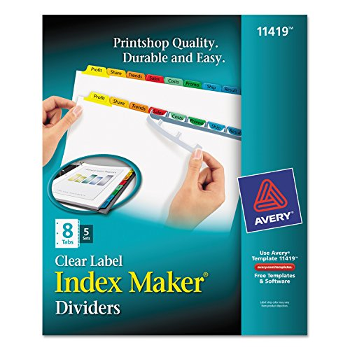Avery Index Maker Dividers 11419
