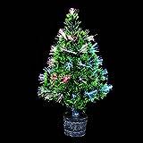 Home Garden Decor Best Deals - Lucksender Colorful Fiber Optic Christmas Tree Home Garden Pub Decor