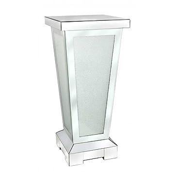 Spiegelplatte DIAMANT mit Glitzersteinchen quadratisch 15x15cm Glas Formano