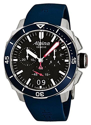 Alpina Geneve Diver 300 AL-372LBN4V6 Mens Chronograph Solid Case