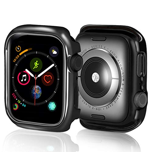 (Kiorc Ultra-Slim Electroplate PC Protective Case Cover for Apple Watch Series 4 40mm Black)