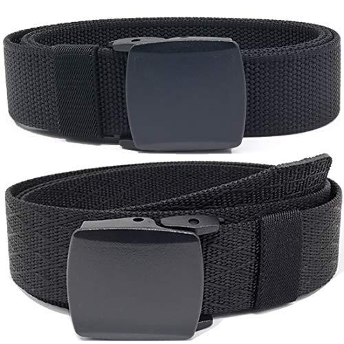 Hoanan Mens Nylon Belt, Tactical 2 Pack 28-50