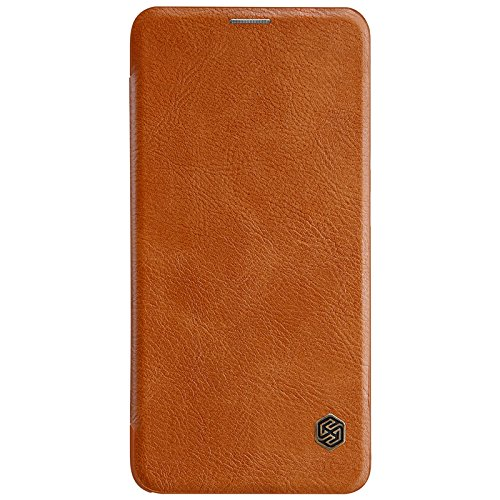Nillkin Qin Series Royal Leather Flip Case Cover for OnePlus 6T  Brown