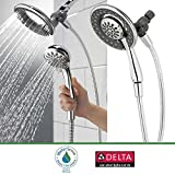 Delta Faucet In2ition 4-Function Handheld Shower Head 2-in-1, Chrome