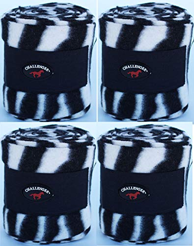CHALLENGER Horse Tack Grooming Leg Set of 4 Polo Wrap 95R24