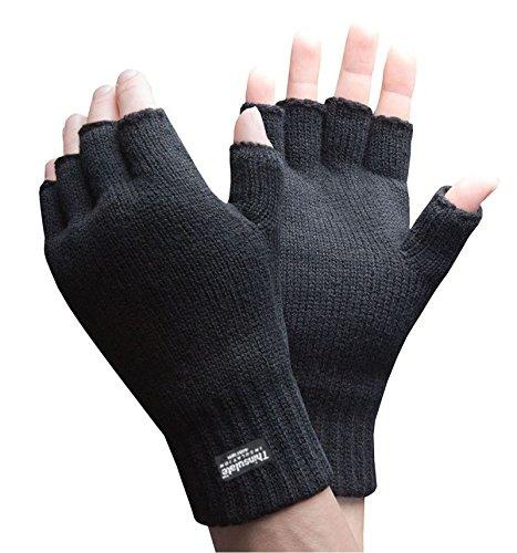 nuova versione 100% di alta qualità bel design Sconosciuto Da uomo da donna nero senza dita termico ...