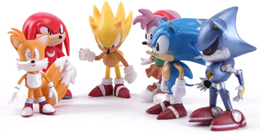 Stephi 3d Figurines Anime Model 6 Pcs Set Pvc Toy Cartoon Cute Sonic The Hedgehog Sega Action Figure Game For Children Boy Girl Collectible Opp Bags Amazon Co Uk Kitchen Home