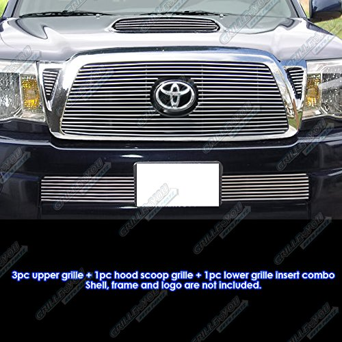 APS Compatible with 2005-2010 Toyota Tacoma TRD Sport Billet Grille Grill Combo Insert S18-A62776T (Toyota Tacoma Grill 2009)