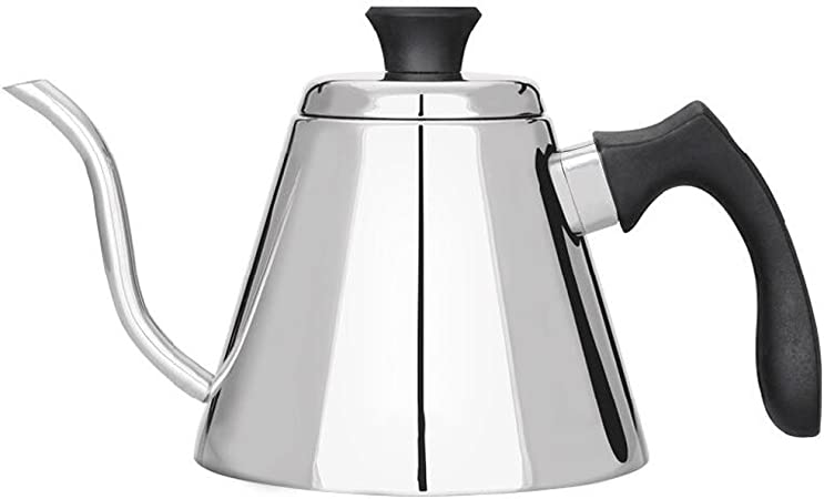 Cafetera de mano Caldera de café fino de acero inoxidable Olla de boca fina: Amazon.es: Hogar