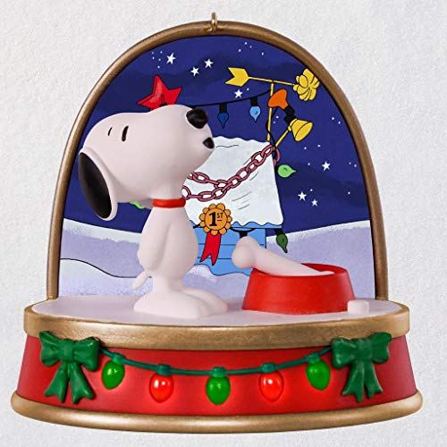 HMK Hallmark 2018 Keepsake A Charlie Brown Christmas Snoopy Ornament with Sound and Light