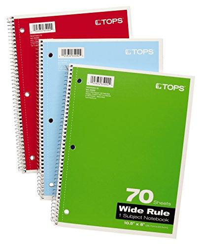 70 Sheet Spiral Notebook - 5