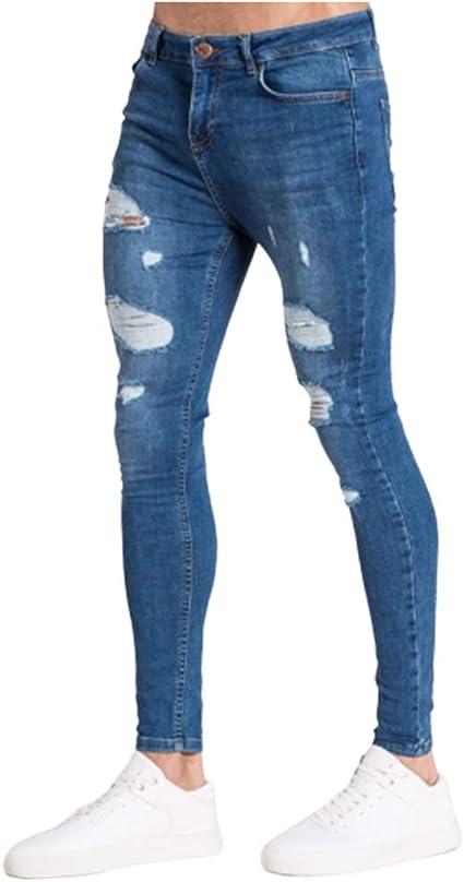 SKTWOE Pantalones Vaqueros Vaqueros Vaqueros de Moda para ...