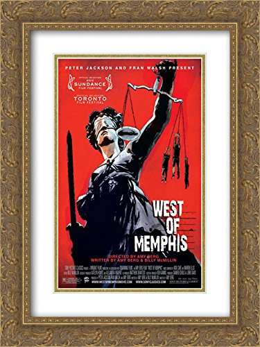 West of Memphis 18x24 Double Matted Gold Ornate Framed Movie Poster Art - Galleria Memphis